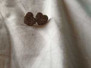 Heart studs from Bizou